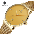 Brand Men's watches dress quartz watch men steel mesh strap quartz-watch Ultra-thin ultra clock relogio masculino