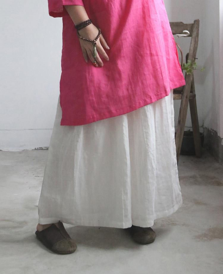 Tamaño Pantalón Más Y Negro Fresco Vintage Lino Longitud Falda Mujeres Tobillo Verano Blanco Suelta Pantalones Grande Pantalones Puro Llamarada Respirar U61fxZq