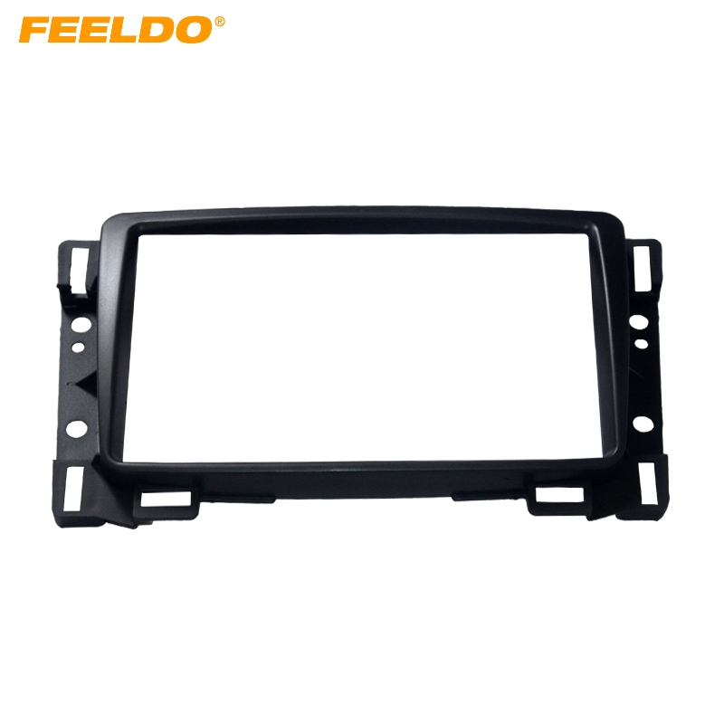 FEELDO Car Refitting DVD 2Din Fascia Frame For Chevrolet Sail Radio DVD Stereo Panel Dash Mount Install Trim Kit Refit Frame