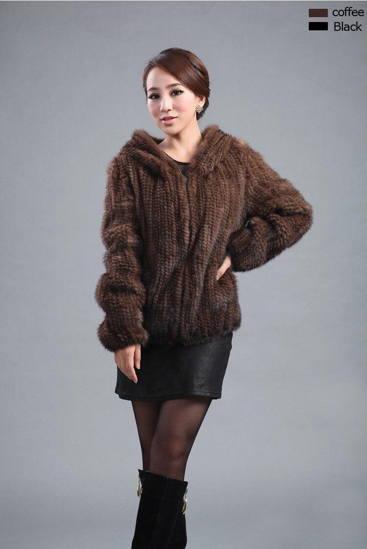 ZDFURS * neue gestrickte echte Nerz Pelzmantel Frauen Top Fashion - Damenbekleidung - Foto 2