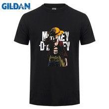 Gildan marque une pièce Luffy T-shirt hommes décontracté à manches courtes coton t-shirts été T-shirt Homme Streetwear Homme T-shirt