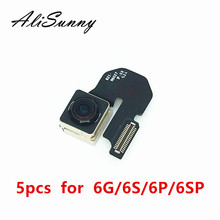 AliSunny 5pcs 아이폰 6 6S 플러스 6G 4.7 6 플러스 메인 빅 후면 카메라 캠 Replacment 부품에 대 한 뒤로 카메라 플렉스 케이블