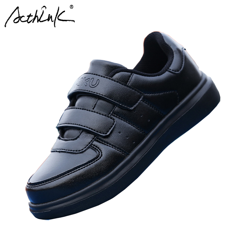 ActhInK Kids Casual Artificial Leather Antiskid Sports Shoes Teenage Boys Breathable School Shoes Boys Leather Running Shoes ...