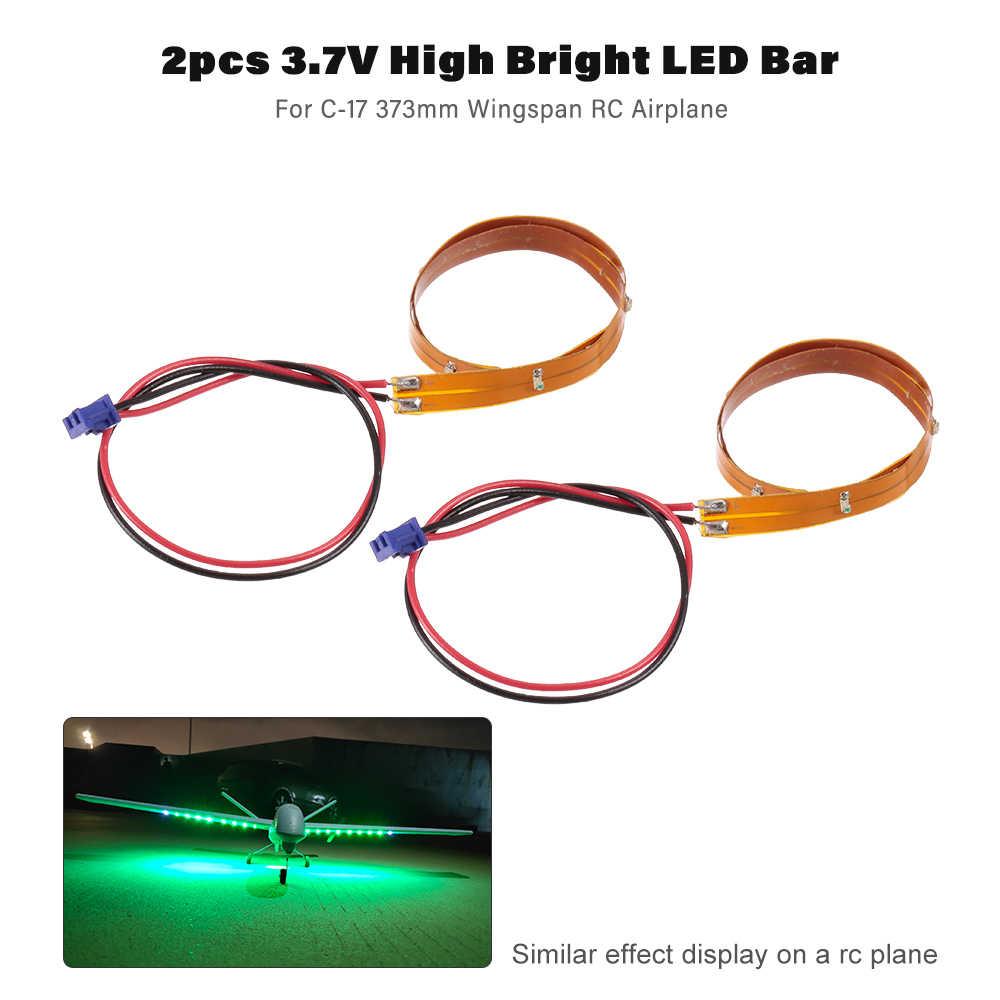 2 шт транспортный самолет с фиксированным крылом 3,7 V высокий яркий светодиодный полосатый свет для бара для C-17 Z51 2,4G 2CH Летающий видеосамолет