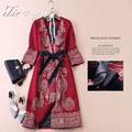 2015 winter coats for women vintage royal embroidery Chinese style high quality puls size flowers lady trench coat female 3XL