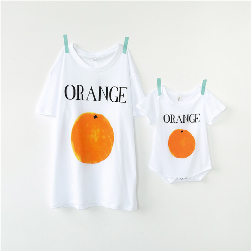 New Family Matching Clothes Dad Daughter Clothes T Shirt Fashion Fruit Short-sleeve Familia Father Son Baby T-shirt Family Look ...