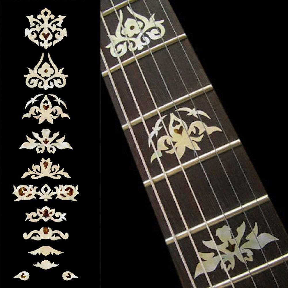 Fretboard Markers Inlay Sticker Decals for Guitar & Bass - Garcia Deluxe - WP fretboard markers inlay sticker decals p35 al1 al2 for guitar and bass stars