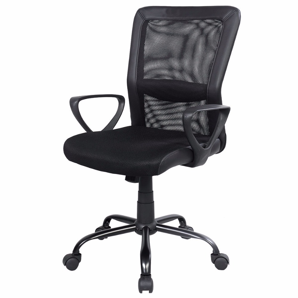 Modern Ergonomic Mesh Medium Back Executive Computer Desk Task Office Chair New CB10065BK недорого