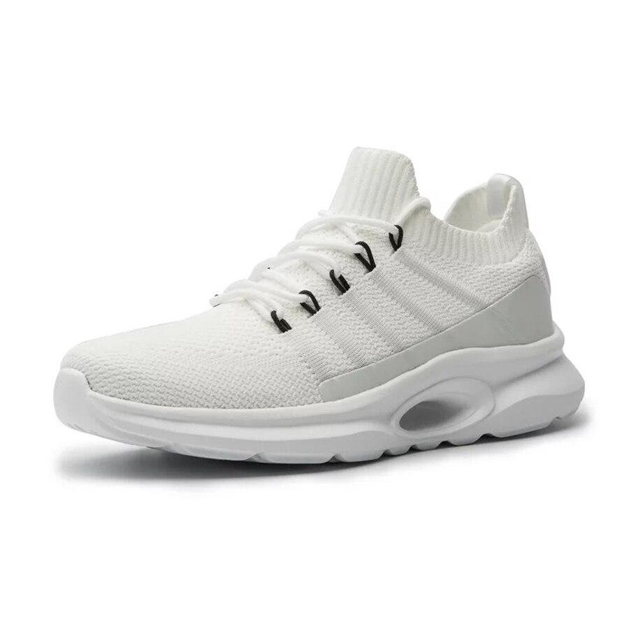 black Sapatos Pista Esportes Negra And Respirável Verão Corrida Flyknit white Homens Grey Escorregadia Sneakers Maré De Dos Black Tênis Branco 8xfTp