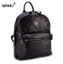 Wanu Новинка 2017 года из овечьей кожи рюкзак хорошее качество кожи для девочек школьный женский багажные сумки дорожные сумки подарок для жены