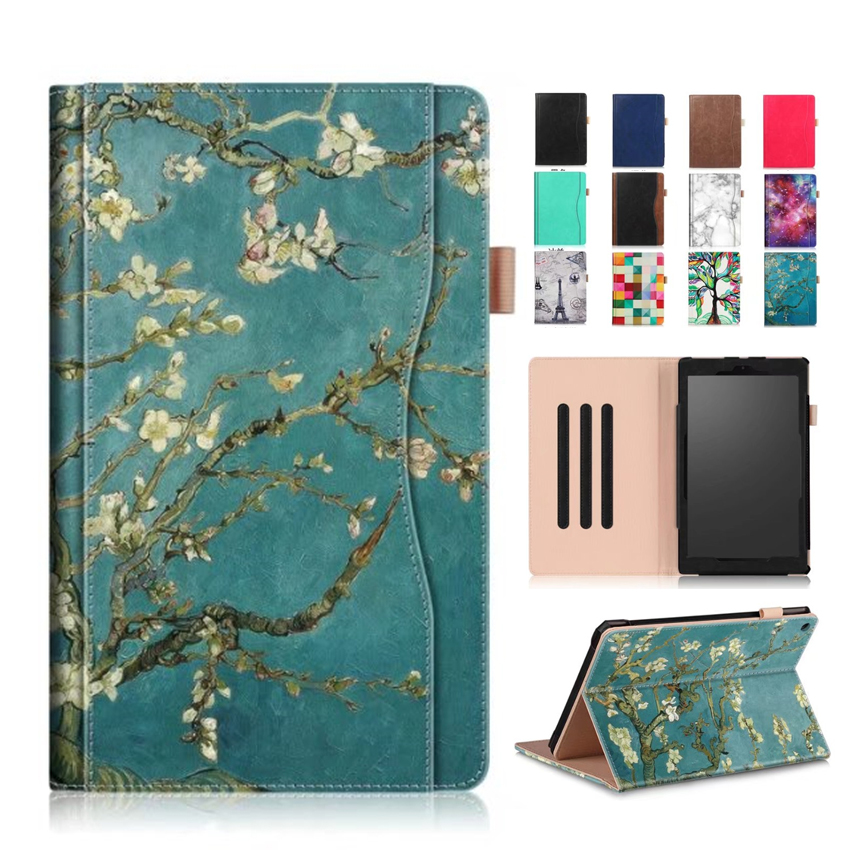 цены For Amazon Kindle fire HD10 2017 PU Leather Case Cover 10.1'' Protective Stand For Amazon New Fire HD 10 2015 Smart Tablet Skin