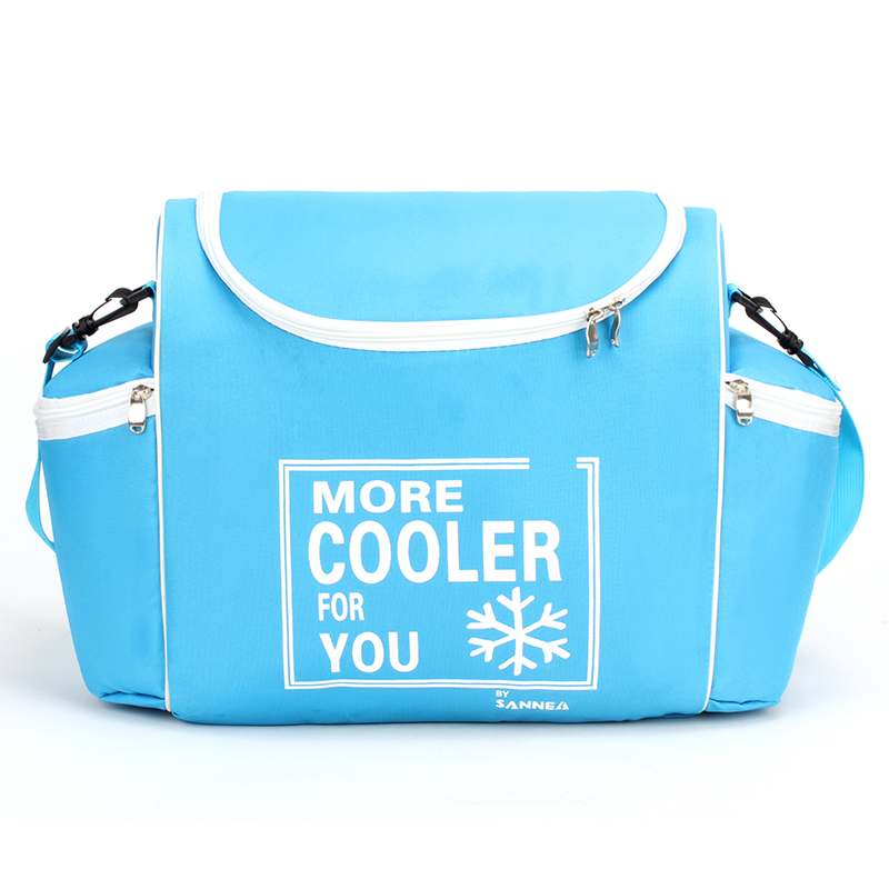 24 L 600D Waterproof Cooler Bag Oxford Ice Pack Insulated Lunch Cold Storage Bags Fresh Food Shawl Picnic Insulation Package large insulated lunch bags four sided hard board portable picnic box jacquard fresh cooler food bag multifunctional ice package