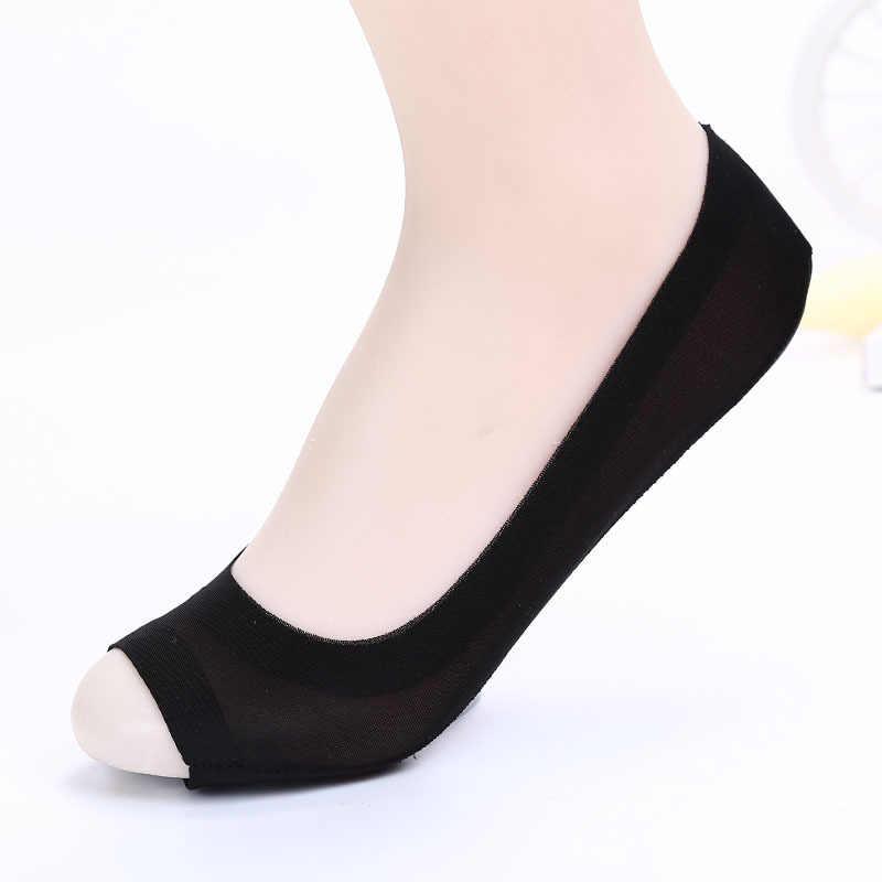 ใหม่ปลาปากผ้าไหมถุงเท้าเรือที่มองไม่เห็นรุ่นLady Tracklessถุงเท้าสำหรับสตรี