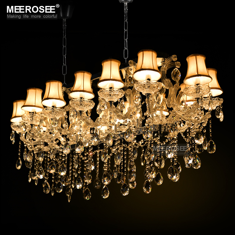 Rectangle Crystal Chandelier Light Fixture modern Silver crystal Lamp lustre for Hotel Restaurant Living Room MD32011 modern crystal chandelier hanging lighting birdcage chandeliers light for living room bedroom dining room restaurant decoration