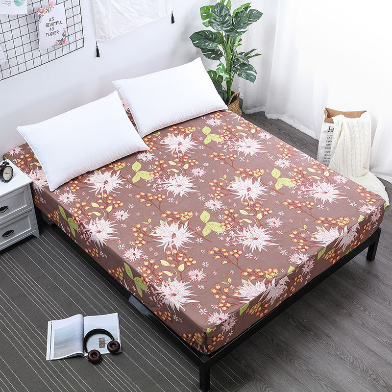 Cute Pattern Bed Cover Waterproof Mattress Protector Isolation Wet Pad Fitted Sheet Style Cover for Bed with Elastic Rubber Can in Mattress Covers Grippers from Home Garden