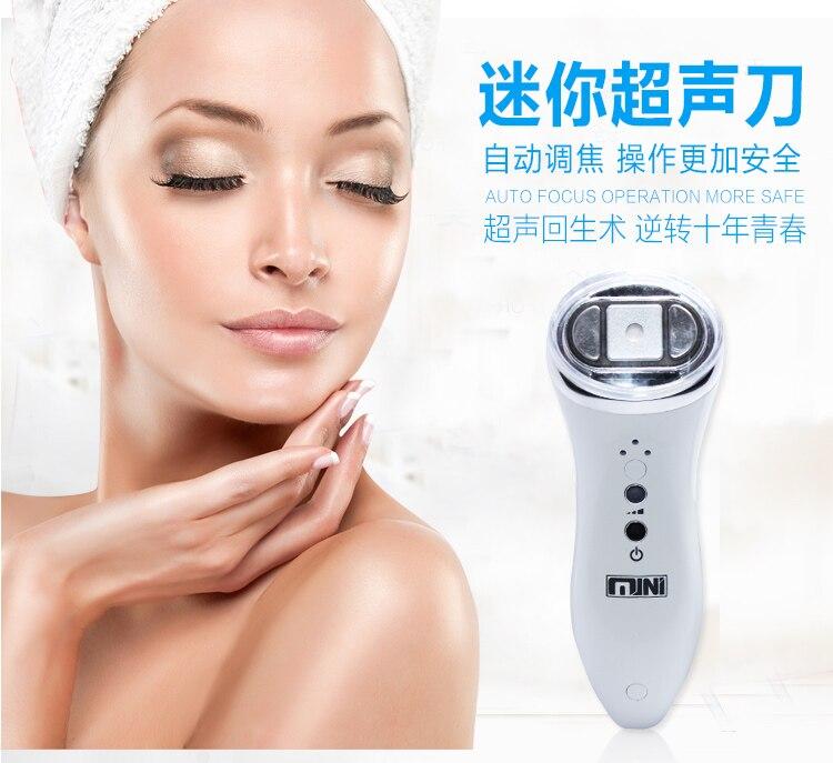 Бытовые HIFU ультразвуковой мини ультразвуковой нож Портативный Радио частота Приспособления для красоты лифтинг лица и Anti Aging морщин