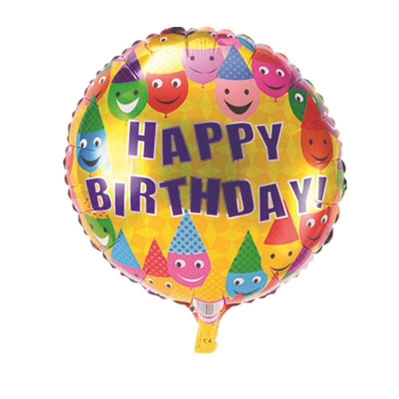 BINGTINA The new 18-inch aluminum balloons wedding birthday clown birthday ballo