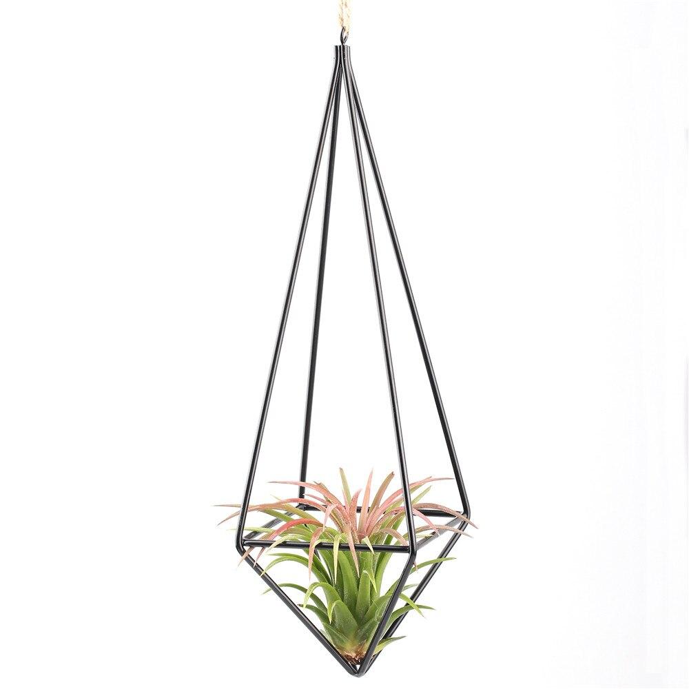 Eine Freistehende Hängen Tillandsia Air Pflanzen Rack Metall Geometrische Himmeli Rack Schaukel Schmiedeeisen Rustikalen Pflanzentöpfe Hausgarten