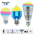E27 4.5W 7W 10W Bluetooth 4.0 LED Bulbs RGBW Smartphone APP Remote Control Light 16 Millions Dimmable Color AC85-265V