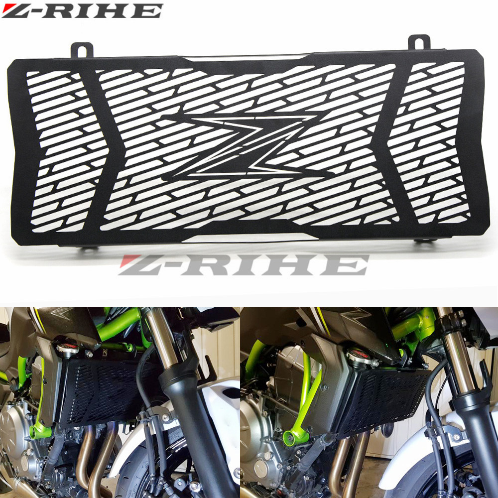 FOR kawasaki Motorcycle Radiator Protective Cover Grill Guard Grille Protector Silver For kawasaki Z 650 Z650 2017 for kawasaki z900 2017 motorcycle radiator guard gloss stainless steel grille bezel radiator net protective cover