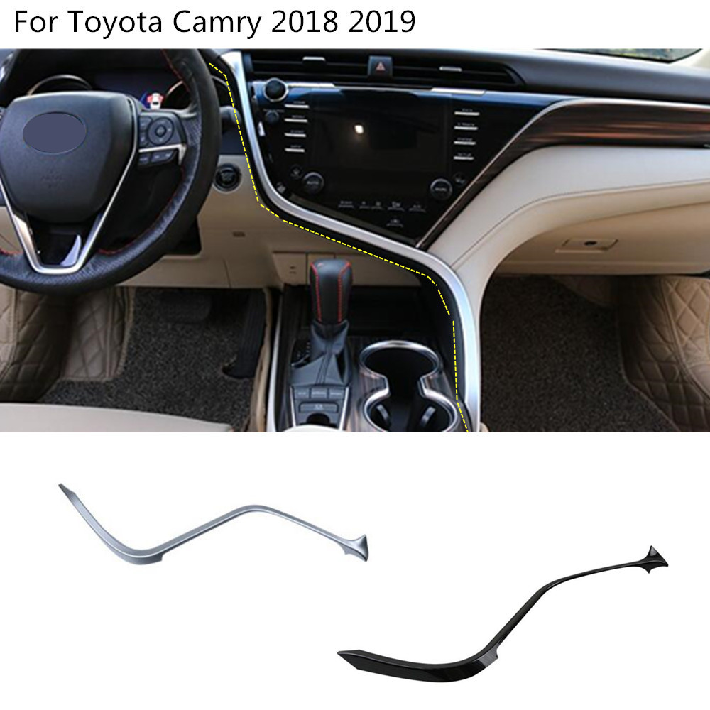 car glove box cover detector trim middle console control dashboard GPS panel stick For Toyota New Camry XV70 2017 2018 2019
