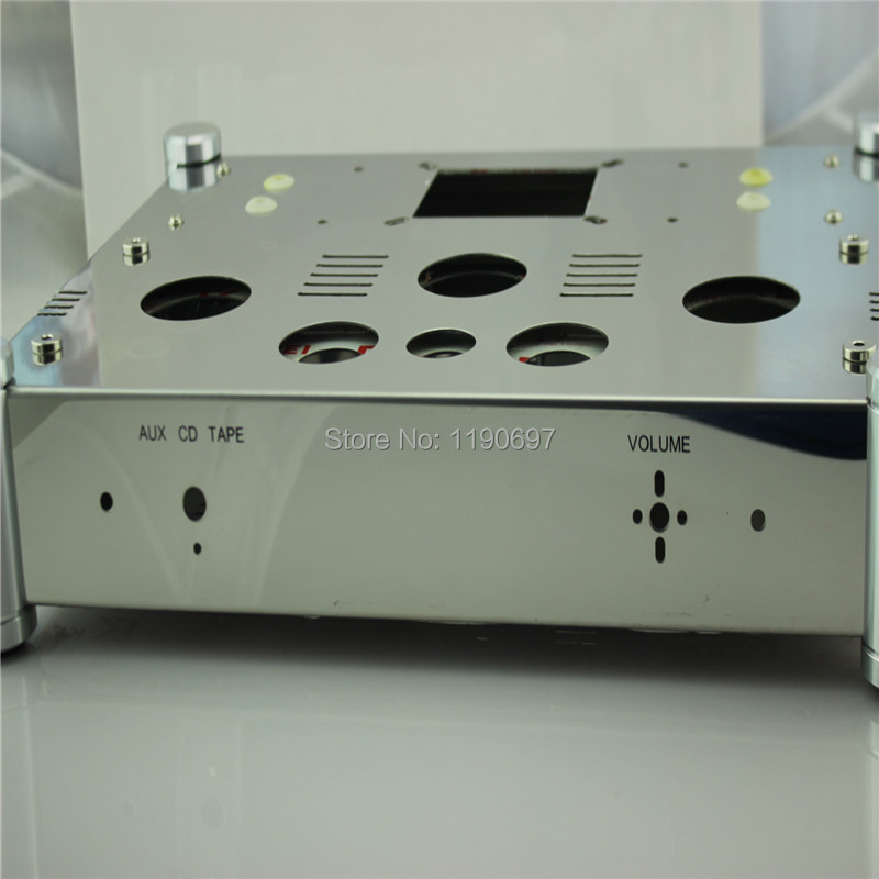 Power Amplifier Chassis Stainless Steel perforated Casing DIY Chassis 370mm*280mm*80mm 1piece DIY For 300B Amplifier seitokai no ichizon cosplay school boy uniform h008