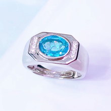 цена gemstone fine jewelry wholesale 925 sterling silver natural blue topaz ring for men wedding engagement party онлайн в 2017 году
