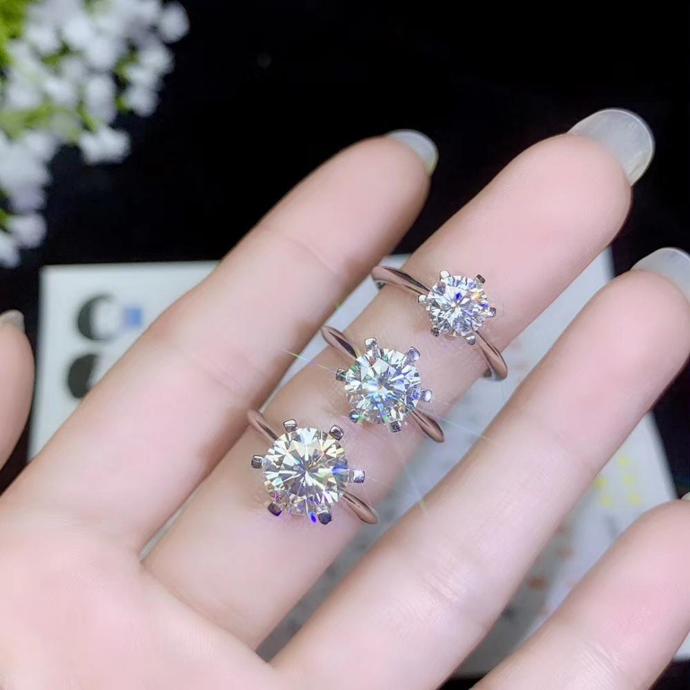 Classic style, simplest style, various sizes of moissanite, 925 silver ladys ringClassic style, simplest style, various sizes of moissanite, 925 silver ladys ring