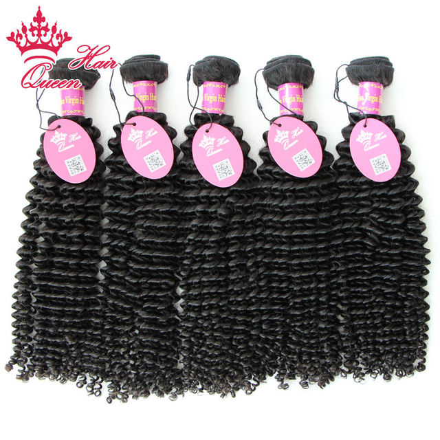 Queen Hair Products Kinky Curly Brazilian Virgin Hair 100% Human Hair Weaves,Unprocessed 5pcs/lot Virgin Brazilian Hair