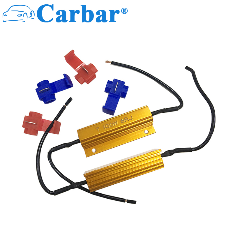 Carbar# 100 Watt 6 Ohm Wirewound Resistor Electronic Aluminium Shell Resistors Gold Suitable For Inverter/ LED lights