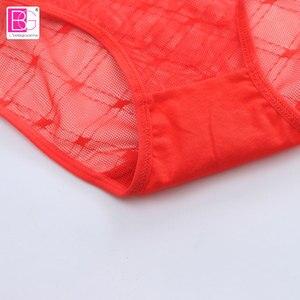 Image 4 - 6 teile/los Plus Größe Höschen Sexy Nahtlose Frauen Briefs Unterwäsche Seide für Damen Bikini Transparent Dessous XXS XXL 1853P6M