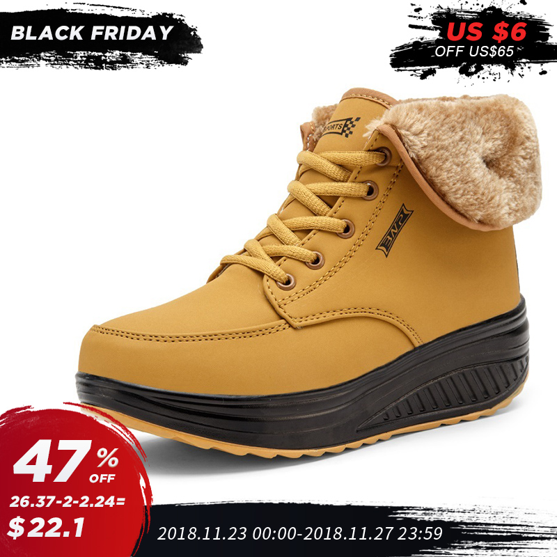 Frauen Winter Schuhe Plattform dicken boden Warme Pelz casual sneakers  wasserdichte schnee schuhe 5,5 cm ferse winter sport laufschuhe 151bf3d4a7