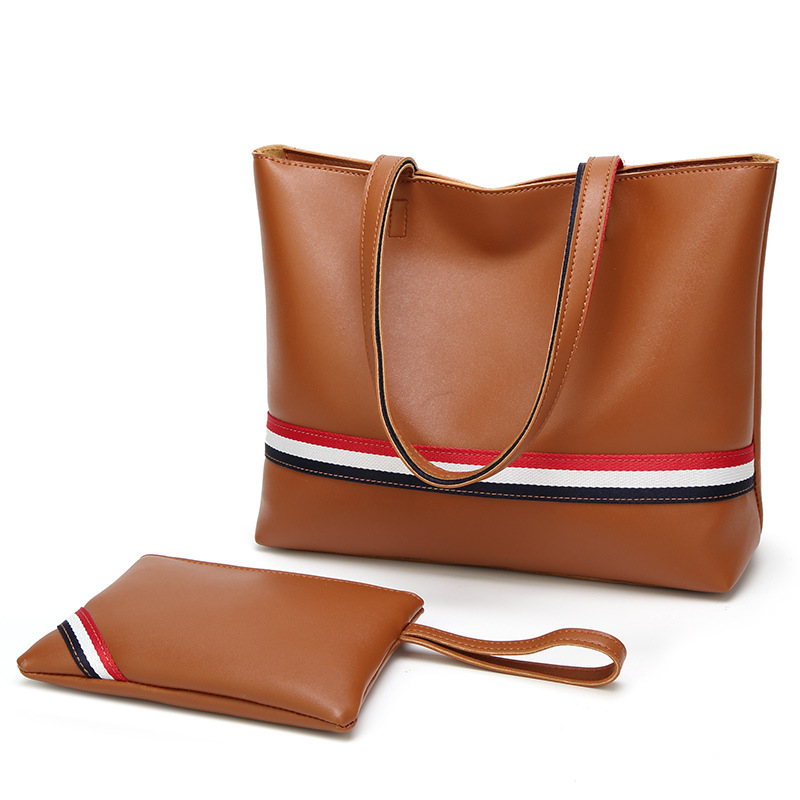 e815db32ee8 Tagdot Large Leather Tote bag Fashion Shopping Zipper Tote bags for Women Handbag  Shoulder bag black red brown white 2018-in Top-Handle Bags from Luggage ...