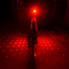 New Cycling Bike Bicycle 5 LED Flash Safety Laser Beam Rear Tail Red Light sky star patterns(China (Mainland))
