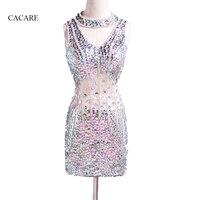 2018 יוקרה שמלת תחפושת שמלת ריקוד לטיני סלסה נשים F508 סקסי Mesh שמלה עם Shinning נצנצים Rhinestones אישית