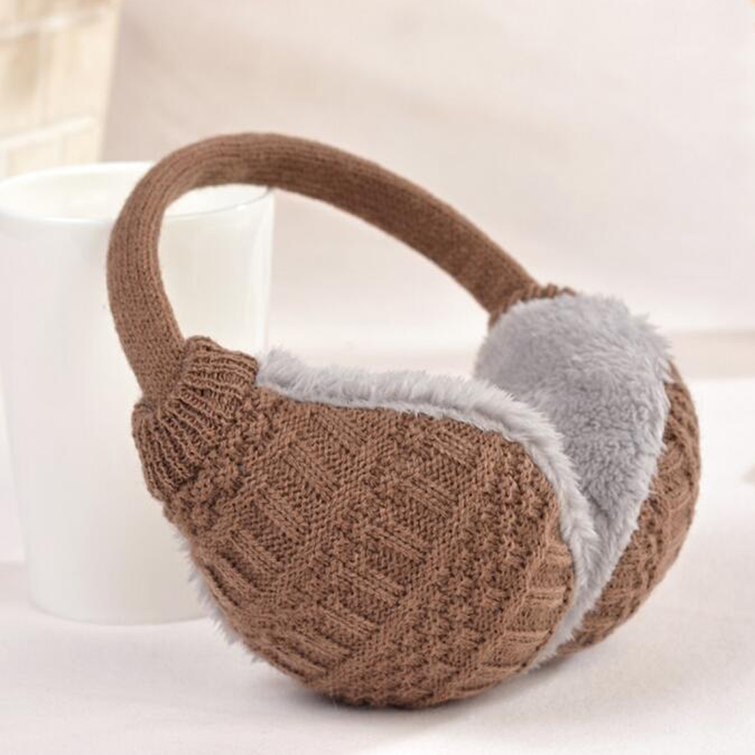 Comfortable Winter Ear Cover Women Warm Knitted Earmuffs Ear Warmers Women Girls Plush Ear Muffs Earlap Warmer Headband
