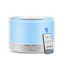 700ml Remote Control Ultrasonic Air Aroma Humidifier white Grain LED Lights Electric Aromatherapy Essential Oil Aroma Diffuser