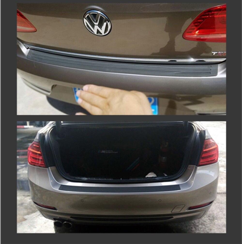 จัดแต่งทรงผมรถ Trunk ยางด้านหลังกันชนสำหรับ Volkswagen Polo Passat B5 B6 CC GOLF 4 5 touran Bora Tiguan