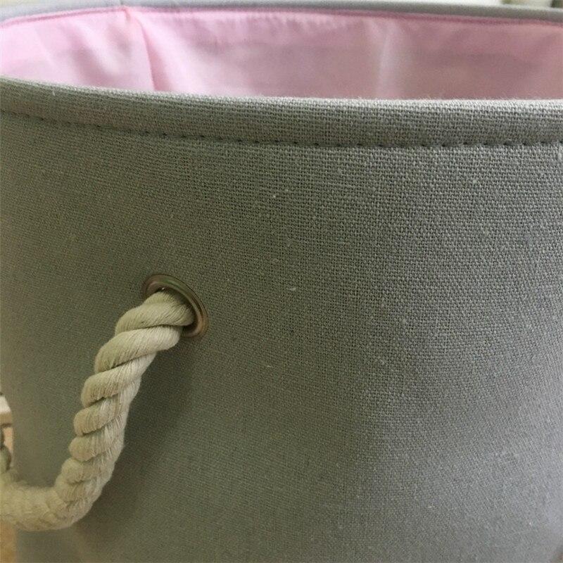 Fulllove 35*40cm rosa lavanderia cesta para roupas
