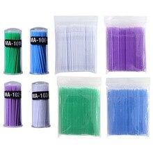 100pcs/lot Micro Durable Disposable Eyelash Extension Individual Applicators Mascara Brush For Women eyelash glue cleaning stick