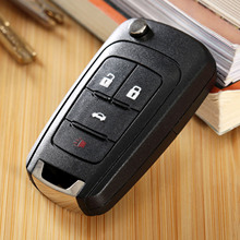 Car Replacement Folding Flip Remote Key Case Shell For Chevrolet Camaro Cruze Equinox Malibu Sonic Spark Volt 4Buttons Entry Fob