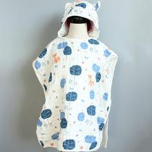 6 слойная детская накидка с капюшоном ультра мягкое супервпитывающее