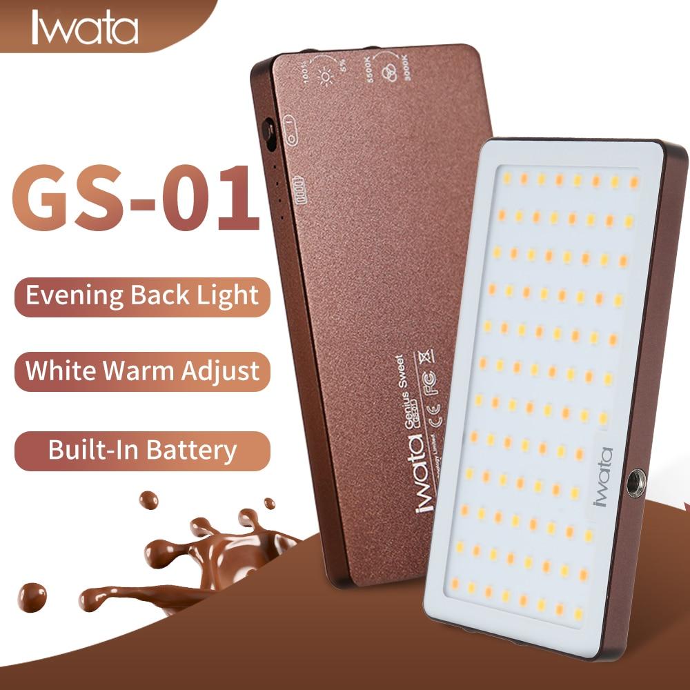 Iwata 94 LED Fill Light CRI Super Natural Light 3000K 5500K Ultra thin Portable Phone Video