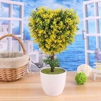 2017 Limited Kunstmatige Bonsai Boom Voor Koop Bloemen Decor Fake Plant hartvormige Simulatie Flores Artificiais Desktop Display