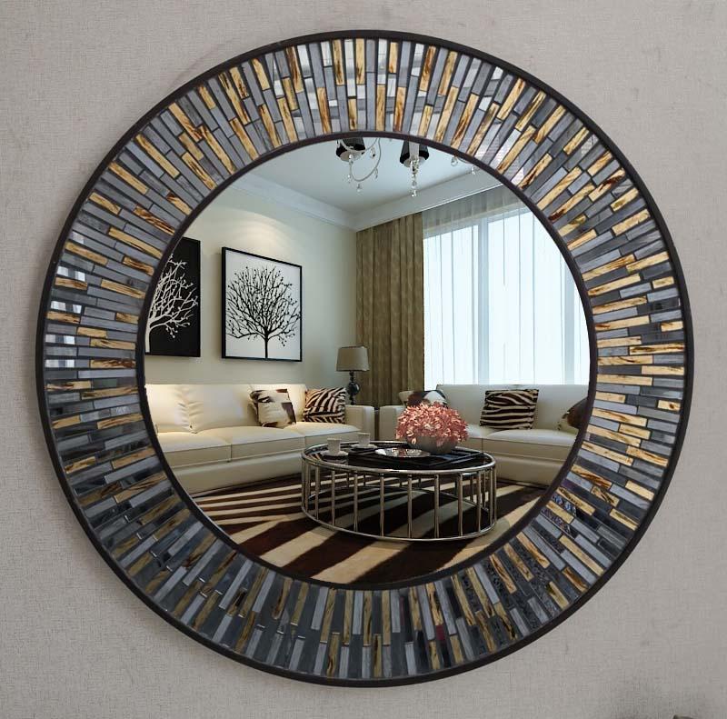Us 4890 70cmx70cm New European Bathroom Decorative Mirror Makeup Bathroom Mirror American Bathroom Wall Mirror In Bath Mirrors From Home