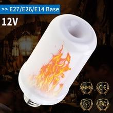 E27 LED Flame Lamp E26 Light Fire Dynamic Burning Decoration E14 Flickering Emulation Effect Bulb 12V Candle