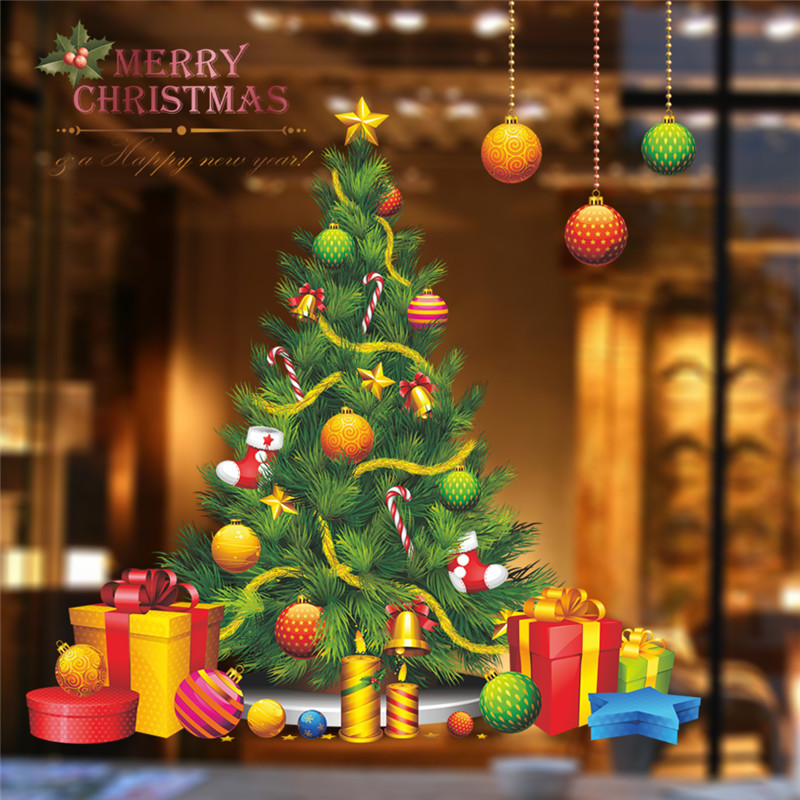 Christmas Tree Wall Sticker Decals Party Store Shop Window