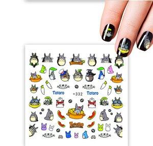 Наклейки на ногти кролик Тоторо художественное украшение слайдер клей переводные наклейки для воды маникюр Лак аксессуары для полировки ф...