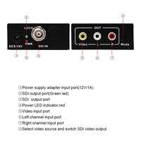 2018 New Style Wiistar High Quality SDI Converter HD 3G SDI Spliiter Signal AV CVBS Converter