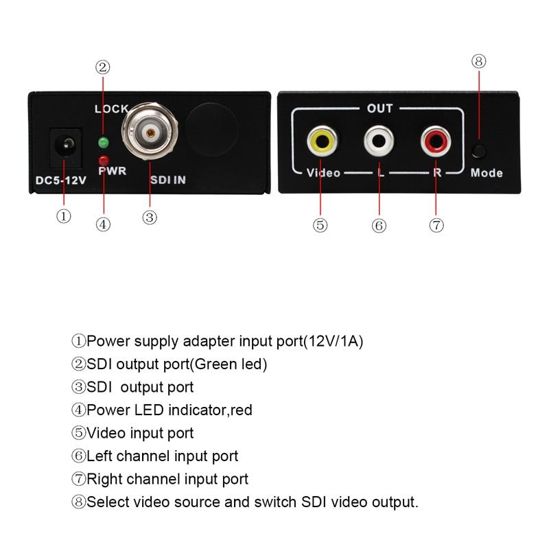 2018 neue Stil Wiistar hochwertigen SDI Konverter HD/3G-SDI spliiter signal AV CVBS Converter Mit 1 Kanal SDIFree verschiffen
